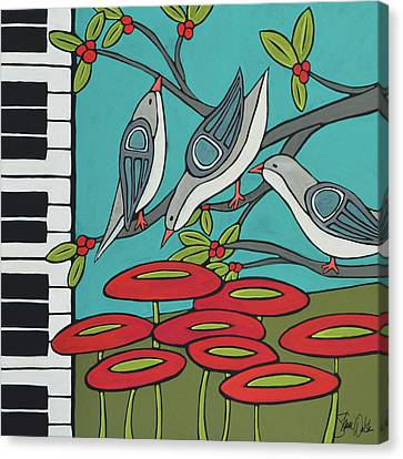 Song Birds Canvas Print by Shanni Welsh