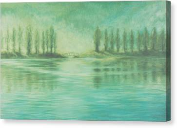 Canvas Print featuring the painting Song For Monet by Laurie Stewart
