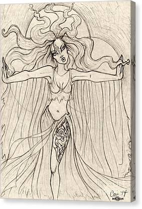 Song Of The Banshee Canvas Print by Coriander  Shea