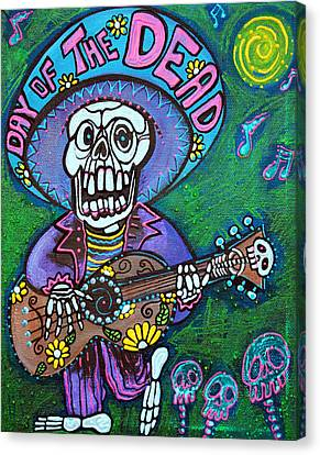 Song Of The Dead Canvas Print by Laura Barbosa