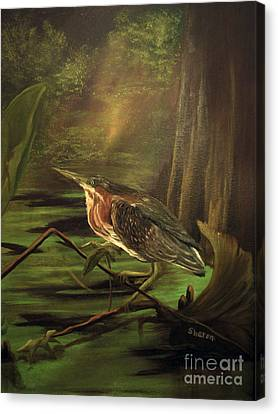 Song Of The Everglades Canvas Print by Sharon Burger