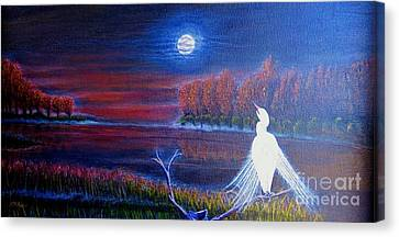 Song Of The Silent Autumn Night Canvas Print by Kimberlee Baxter