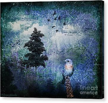 Songbird Canvas Print by Lianne Schneider