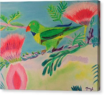 Canvas Print featuring the painting Songbird by Meryl Goudey