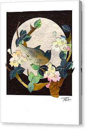 Songbird Moon Canvas Print