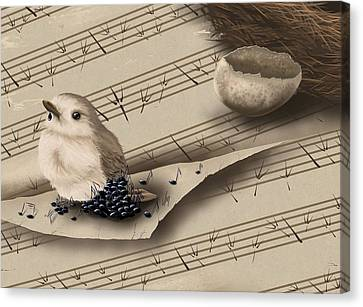 Songbird Canvas Print by Veronica Minozzi