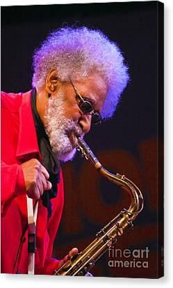 Sonny Rollins On Sax Canvas Print by Craig Lovell