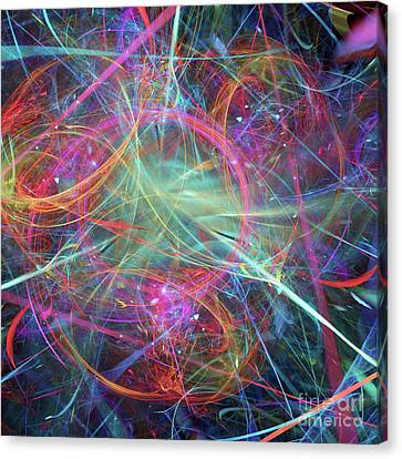 Canvas Print featuring the digital art Sonogram Of The Soul by Margie Chapman