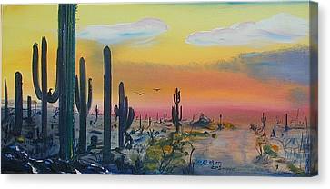 Sonora Alive Canvas Print by J FLoRian Dunn