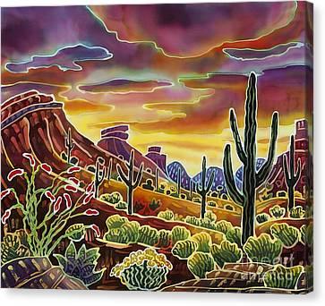 Carefree Arizona Canvas Print - Sonoran Desert Glow by Harriet Peck Taylor