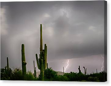 Sonoran Monsoon Lightning Thunderstorm Delight Canvas Print