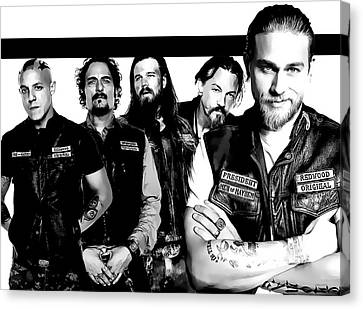 Sons Of Anarchy Canvas Print by Anibal Diaz
