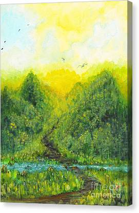 Canvas Print featuring the painting Sonsoshone by Holly Carmichael
