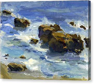 Making Canvas Print - Soothed By The Sea by Maria Hunt