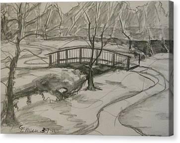 Sope Creek Bridge Canvas Print by Gretchen Allen