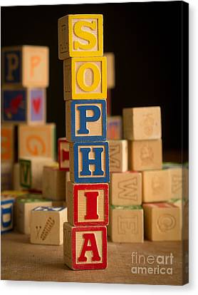 Sophia - Alphabet Blocks Canvas Print by Edward Fielding
