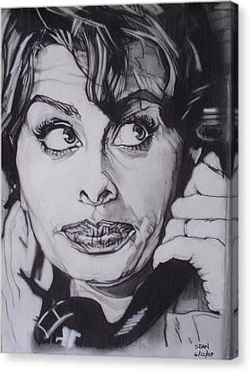 Sophia Loren Telephones Canvas Print by Sean Connolly