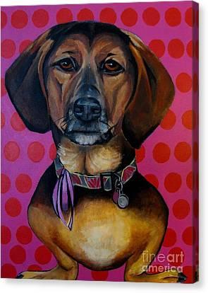Sophia - My Rescue Dog  Canvas Print