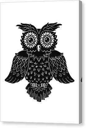 Owl Canvas Print - Sophisticated Owls 1 Of 4 by Kyle Wood