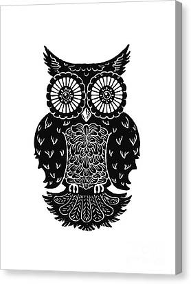 Sophisticated Owls 3 Of 4 Canvas Print by Kyle Wood