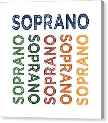 Sopranos Canvas Print - Soprano Cute Colorful by Flo Karp