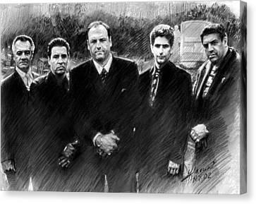 Sopranos Canvas Print - Sopranos James Gandolfini by Viola El