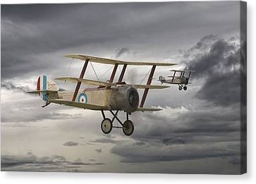 Ww1 Canvas Print - Sopwith Triplane by Pat Speirs