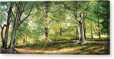 Canvas Print featuring the painting Sorica Mountain by Sorin Apostolescu