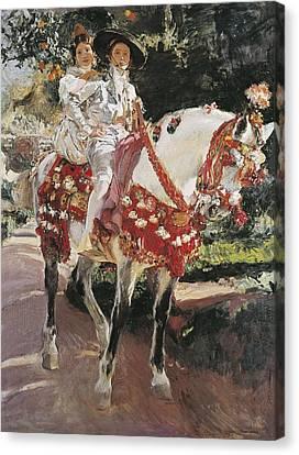 Sorolla, Joaqu�n 1863-1923. Portraits Canvas Print by Everett
