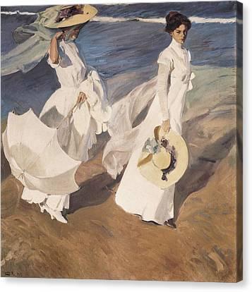 Sorolla, Joaqu�n 1863-1923. Walk Canvas Print by Everett
