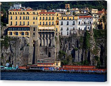 Canvas Print featuring the photograph Sorrento Coast Line by Uri Baruch