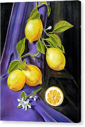 Sorrento Lemons Canvas Print by Irina Sztukowski