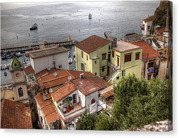 Canvas Print featuring the photograph Sorrento by Uri Baruch