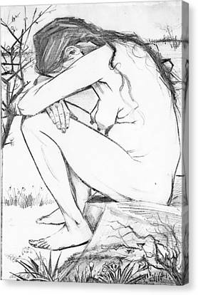 Sorrow After Vincent Van Gogh  Canvas Print by Tracey Harrington-Simpson