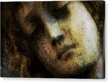 Sorrow Captured In Stone Forever Canvas Print by Gun Legler
