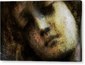 Sorrow Captured In Stone Forever Canvas Print by Gun Legler