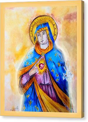 Sorrowful Immaculate Heart Canvas Print