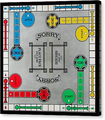 Sorry Board Game Canvas Print