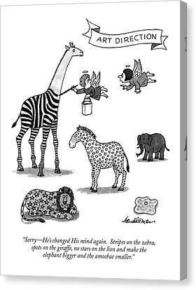 Sorry - He's Changed His Mind Again.  Stripes Canvas Print by J.B. Handelsman