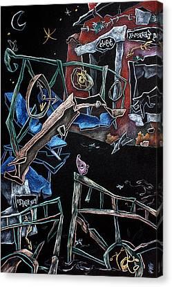 Sott'acqua - Surrealism Art Fantasy Illustration Canvas Print by Arte Venezia