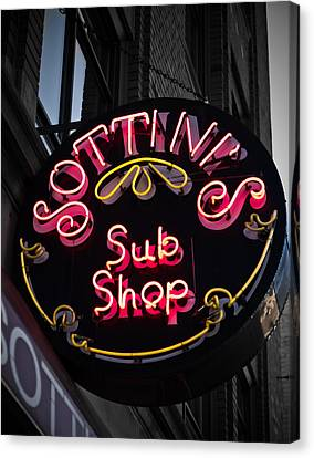 Canvas Print featuring the photograph Sottini's Sub Shop by James Howe