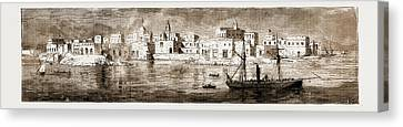 Sudan Red Canvas Print - Souakin, On The Red Sea, The Landing-place Of The Sudan by Litz Collection
