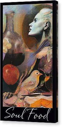 Profile Canvas Print - Soul Food - With Title And Dark Border by Brooks Garten Hauschild