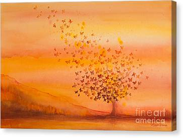 Soul Freedom Watercolor Painting Canvas Print by Michelle Wiarda