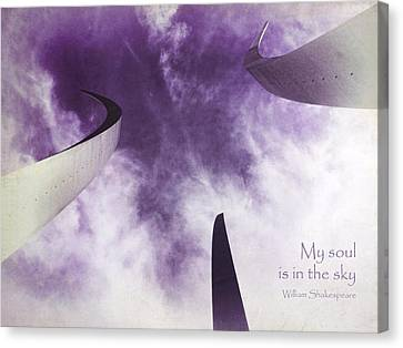 Kim Klassen Texture Canvas Print - Soul In The Sky - Us Air Force Memorial by Julia Springer