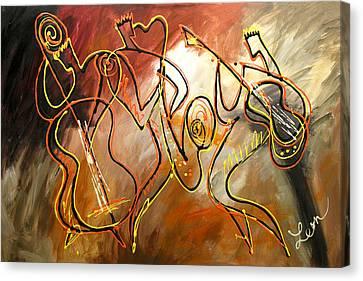 Avant Garde Jazz Canvas Print - Soul Jazz 2 by Leon Zernitsky