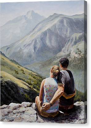 Mountain View Canvas Print - Soul Mates by Mary Giacomini