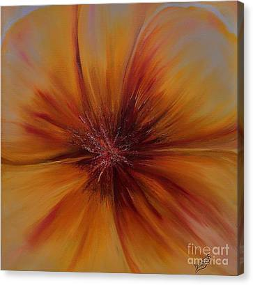 Soul Of A Flower Canvas Print by Mary DeLawder