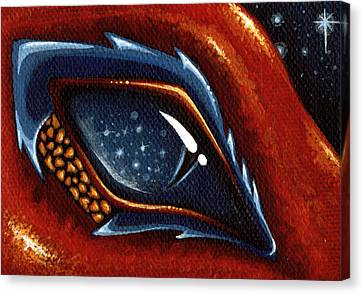 Soul Of The Starry Eyed Dragon Canvas Print by Elaina  Wagner
