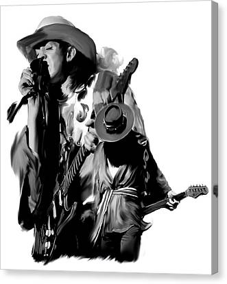 Soul To Soul  Stevie Ray Vaughan Canvas Print by Iconic Images Art Gallery David Pucciarelli